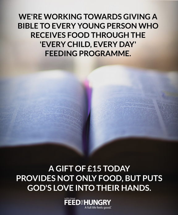 Food and a Bible
